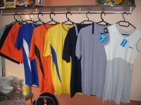 Sportovní trička, šortky